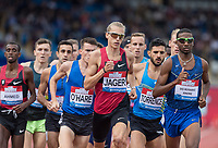 Thiago DO ROSARIO ANDRE of BRA & Evan JAGER of USA lead the Emsley Carr Mile during the Muller Grand Prix Birmingham Athletics at Alexandra Stadium, Birmingham, England on 20 August 2017. Photo by Andy Rowland.