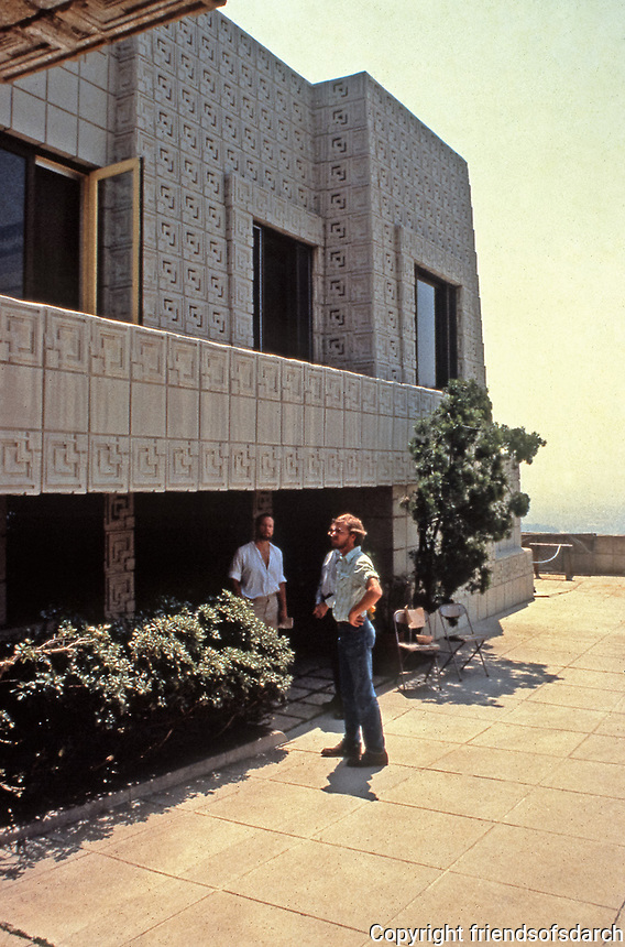 Frank Lloyd Wright:  Ennis-Brown House, Los Angeles. 2607 Glendower Ave. Built in 1924 of concrete block construction with Mayan design.