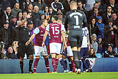 12th September 2017, Villa Park, Birmingham, England; EFL Championship football, Aston Villa versus Middlesbrough; John Terry of Aston Villa tries to keep his players away from the referee