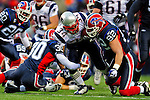 28 December 2008: New England Patriots' running back Sammy Morris gains 9 yards in the third quarter against the Buffalo Bills at Ralph Wilson Stadium in Orchard Park, NY. The Patriots kept their playoff hopes alive defeating the Bills 13-0 in their 16th win against Buffalo of their past 17 meetings. ***** Editorial Use Only ******..Mandatory Photo Credit: Ed Wolfstein Photo