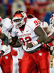 Houston Cougars defensive lineman Joey Mbu (92) in action during the game between the University of Houston Cougars and the Southern Methodist Mustangs at the Gerald J. Ford Stadium in Dallas, Texas. SMU leads Houston 28 to 14 at halftime...