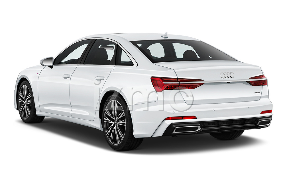 Car pictures of rear three quarter view of a 2019 Audi A6 Premium Plus 4 Door Sedan angular rear