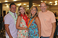 NWA Democrat-Gazette/CARIN SCHOPPMEYER Dan and Rebecca Ross (from left) and Amy and David Bates attend the Beach Bingo Bash.