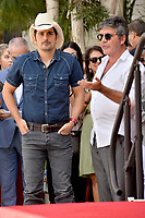LOS ANGELES, CA. September 20, 2018: Brad Paisley &amp; Simon Cowell at the Hollywood Walk of Fame Star Ceremony honoring singer Carrie Underwood.<br /> Pictures: Paul Smith/Featureflash