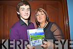 Winner of Best Newly Composed Song at Annual Gary McMahon singing weekend was Castlemain man Micheal O'Shea, pictured here with his mother Chris last Saturday night in Fr Casey's GAA, Abbeyfeale.