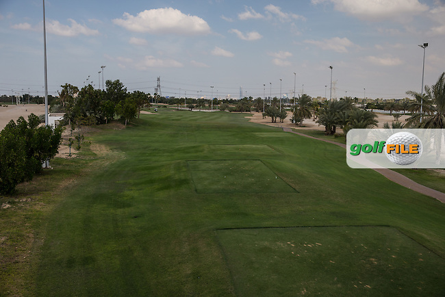 3rd tee, The Track at The Meydan Golf Club, Dubai, United Arab Emirates.  31/01/2016. Picture: Golffile | David Lloyd<br /> <br /> All photos usage must carry mandatory copyright credit (&copy; Golffile | David Lloyd)