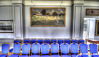 Inside the pavilion at the St Lawrence ground during the County Championship Division 2 game between Kent and Gloucestershire at the St Lawrence Ground, Canterbury, on April 15, 2018.