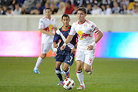 Bryan Gallego (4) of the New York Red Bulls. The USMNT U-17 defeated New York Red Bulls U-18 4-1 during a friendly at Red Bull Arena in Harrison, NJ, on October 09, 2010.