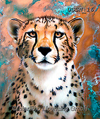 Sandi, REALISTIC ANIMALS, REALISTISCHE TIERE, ANIMALES REALISTICOS, paintings+++++copperflashcheetah,USSN16,#a#, EVERYDAY,cheetah ,puzzles
