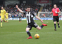 Lewis Morgan in the St Mirren v Livingston Scottish Professional Football League Ladbrokes Championship match played at the Paisley 2021 Stadium, Paisley on 14.4.18.