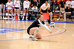 03 DEC 2011:  Taylor Fieldsted (6) of Concordia University St. Paul hits a dig against Cal State San Bernardino during the Division II Women's Volleyball Championship held at Coussoulis Arena on the Cal State San Bernardino campus in San Bernardino, Ca. Concordia St. Paul defeated Cal State San Bernardino 3-0 to win the national title. Matt Brown/ NCAA Photos