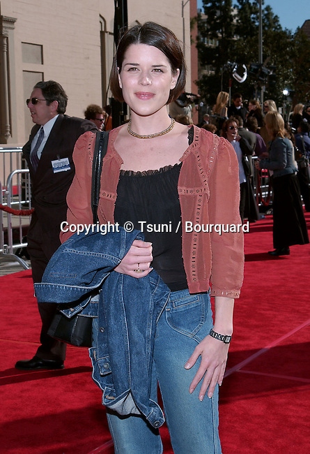 Nadia Campbell arriving at the 20th anniversary of the premiere of E.T. The Extra Terrestrial at the Shrine Auditorium in Los Angeles. March 16, 2002.           -            CampbellNeve01A.jpg