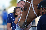 HALLANDALE BEACH, FL - DECEMBER 16:  Scenes from Gulfstream Park Graded Stakes day at Gulfstream Park on December 16, 2017 in Hallandale Beach, Florida. (Photo by Liz Lamont/Eclipse Sportswire/Getty Images)
