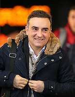 Swansea City Manaager Carlos Carvalhal smiles as he arrives ahead of the Premier League match between Swansea City and Tottenham Hotspur at the Liberty Stadium, Swansea, Wales on 2 January 2018. Photo by Mark Hawkins / PRiME Media Images.