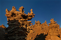 746000016 strange sandstone formations stand watch over the landscape in fantasy canyon a blm property in the middle of a working oil field in northeastern utah united states