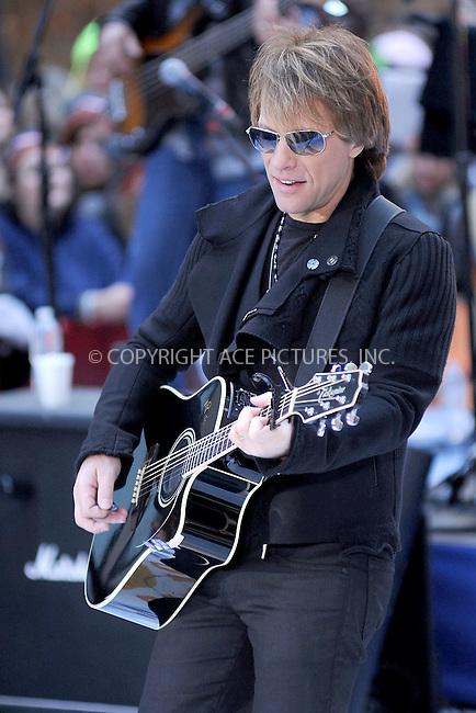 WWW.ACEPIXS.COM . . . . . .November 12, 2010, New York City....Bon Jovi performs on the Today Show at Rockefeller Center on November 12, 2010 in New York City....Please byline: KRISTIN CALLAHAN - ACEPIXS.COM.. . . . . . ..Ace Pictures, Inc: ..tel: (212) 243 8787 or (646) 769 0430..e-mail: info@acepixs.com..web: http://www.acepixs.com .