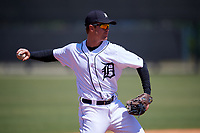 Detroit Tigers Chad Sedio (29) during a Minor League Spring Training game against the Atlanta Braves on March 22, 2018 at the TigerTown Complex in Lakeland, Florida.  (Mike Janes/Four Seam Images)