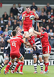 Peter O?Mahoney of Munster wins the line out ball - European Rugby Champions Cup - Sale Sharks vs Munster -  AJ Bell Stadium - Salford- England - 18th October 2014  - Picture Simon Bellis/Sportimage