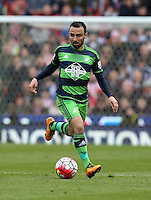 Swansea City's Leon Britton during the Barclays Premier League match between Stoke City and Swansea City played at Britannia Stadium, Stoke on April 2nd 2016