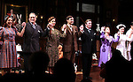 "Tracee Chimo, Charles Kimbrough, Jessica Hecht, Jim Parsons, Larry Bryggman, Carol Kane, Holley Fain.pictured at the Opening Night Curtain Call for the Roundabout Theatre Company's Broadway Production of  ""Harvey"" at Studio 54 New York City June 14, 2012"