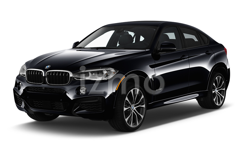 2019 BMW X6 35i 5 Door SUV angular front stock photos of front three quarter view