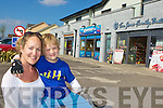 Joshua and Orla Healy-Livingstone shopping in Park road on Wednesday