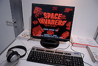A blast from the past. This space invader game as has been adapted so that it can be played by people who are blind. This year is the 30th anniversary of Space Invaders.