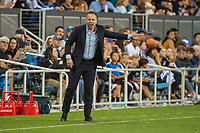 SAN JOSE, CA - AUGUST 24: Marc Dos Santos coach of the Vancouver Whitecaps during a game between Vancouver Whitecaps FC and San Jose Earthquakes at Avaya Stadium on August 24, 2019 in San Jose, California.