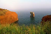 Ile du Cap-aux-Meules, Iles de la Madeleine, Quebec, Canada - Sandstone Cliffs along Coastline near Gros-Cap, Gulf of St. Lawrence - (Grindstone Island, Magdalen Islands)