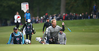 Soren Kjeldsen (DEN) approaching the last during the Final Round of the British Masters 2015 supported by SkySports played on the Marquess Course at Woburn Golf Club, Little Brickhill, Milton Keynes, England.  11/10/2015. Picture: Golffile | David Lloyd<br /> <br /> All photos usage must carry mandatory copyright credit (© Golffile | David Lloyd)