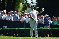 Hideki Matsuyama (JPN) on the 15th tee during the 3rd round at the PGA Championship 2019, Beth Page Black, New York, USA. 19/05/2019.<br /> Picture Fran Caffrey / Golffile.ie<br /> <br /> All photo usage must carry mandatory copyright credit (© Golffile | Fran Caffrey)