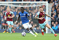 Everton's Idrissa Gueye and Burnley's Jeff Hendrick<br /> <br /> Photographer Rachel Holborn/CameraSport<br /> <br /> The Premier League - Everton v Burnley - Sunday 1st October 2017 - Goodison Park - Liverpool<br /> <br /> World Copyright &copy; 2017 CameraSport. All rights reserved. 43 Linden Ave. Countesthorpe. Leicester. England. LE8 5PG - Tel: +44 (0) 116 277 4147 - admin@camerasport.com - www.camerasport.com