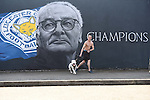 Leicester city fan and his bulldog visits the painted wall of Leicester city manger Claudio Ranieri, in Leicester, England. Photo credit should read: Nathan Stirk/Sportimage<br /> <br /> <br /> <br /> <br /> <br /> <br /> <br /> <br /> <br /> <br /> <br /> <br /> <br /> <br /> <br /> <br /> <br /> <br /> <br /> <br /> <br /> <br /> <br /> <br /> <br /> <br /> <br /> <br /> <br /> <br /> <br /> - Newcastle Utd vs Tottenham - St James' Park Stadium - Newcastle Upon Tyne - England - 19th April 2015 - Picture Phil Oldham/Sportimage