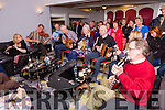 Padraig Healy Glenflesk, Eoin O'Brien Fossa, Mary Daly Kilcummin, John Twomey Kilgarvan, Brid Ann cronin Killarney and Pat O'Brien Fossa playing the tunes at a session at the Gathering Traditional Festival in the Gleneagle Hotel on Saturday night