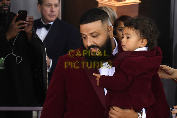 NEW YORK, NY - JANUARY 28: DJ Khaled at the 60th Annual GRAMMY Awards at Madison Square Garden on January 28, 2018 in New York City. <br /> CAP/MPI/JP<br /> &copy;JP/MPI/Capital Pictures