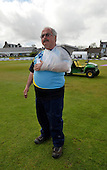 Scotland V England at Mannofield - Aberdeen - One Day International - Aberdeenshire CC groundsman Kenny McCurdie managed to get the game on despite the rain and an elbow dislocated in mopping up operations - picture by Donald MacLeod - 09.05.14 – 07702 319 738 – clanmacleod@btinternet.com – www.donald-macleod.com