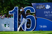 Thorbjorn Olesen (DEN) on the 16th during the 1st round of the DP World Tour Championship, Jumeirah Golf Estates, Dubai, United Arab Emirates. 15/11/2018<br /> Picture: Golffile | Fran Caffrey<br /> <br /> <br /> All photo usage must carry mandatory copyright credit (&copy; Golffile | Fran Caffrey)