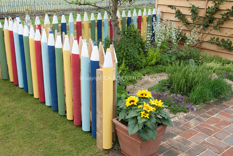 Crayon Fence Plant Amp Flower Stock Photography