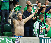 Nordirische Fans - 09.09.2019: Nordirland vs. Deutschland, Windsor Park Belfast, EM-Qualifikation DISCLAIMER: DFB regulations prohibit any use of photographs as image sequences and/or quasi-video.