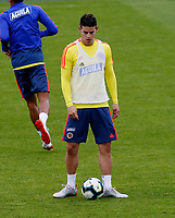 BOGOTA, COLOMBIA - JUNE 6: Colombia's James Rodriguez during a training session of the national soccer team on June 6, 2019 in Bogota, Colombia. Colombia will face Peru on Sunday before they start their Copa America campaign where the team will face Argentina, Paraguay and Qatar on their first stage of the Copa America Brazil 2019. (Photo by VIEWPRESS/Leonardo Muñoz)