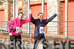Laraine O'Donnell and Marian Bowler  at the Valentines 10 mile road race in Tralee on Saturday.