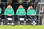06.10.2019, Commerzbankarena, Frankfurt, GER, 1. FBL, Eintracht Frankfurt vs. SV Werder Bremen, <br /> <br /> DFL REGULATIONS PROHIBIT ANY USE OF PHOTOGRAPHS AS IMAGE SEQUENCES AND/OR QUASI-VIDEO.<br /> <br /> im Bild: Bank mit Luc Ihorst (SV Werder Bremen #29) und Philipp Bargfrede (#44, SV Werder Bremen)<br /> <br /> Foto © nordphoto / Fabisch