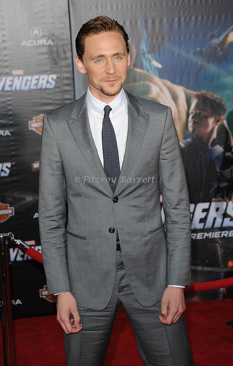 Tom Hiddleston at the premiere of Marvel's The Avengers, held at El Capitan Theatre in Hollywood,  CA. April 11, 2012