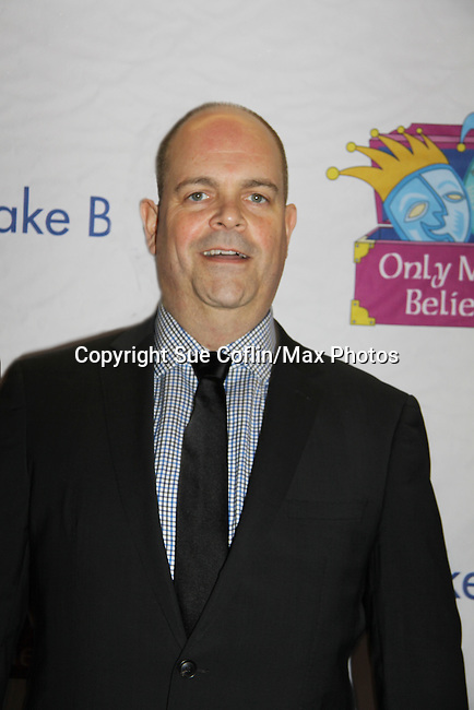 Brad Oscar at Only Make Believe on Broadway - 14th Annual Gala - on November 4, 2013 hosted by Sir Ian McKellen honoring Susan Sarandon in New York City, New York.  (Photo by Sue Coflin/Max Photos)