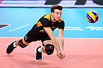 14.09.2019, Paleis 12, BrŸssel / Bruessel<br />Volleyball, Europameisterschaft, Deutschland (GER) vs. Belgien (BEL)<br /><br />Abwehr Julian Zenger (#10 GER) / Libero<br /><br />  Foto © nordphoto / Kurth