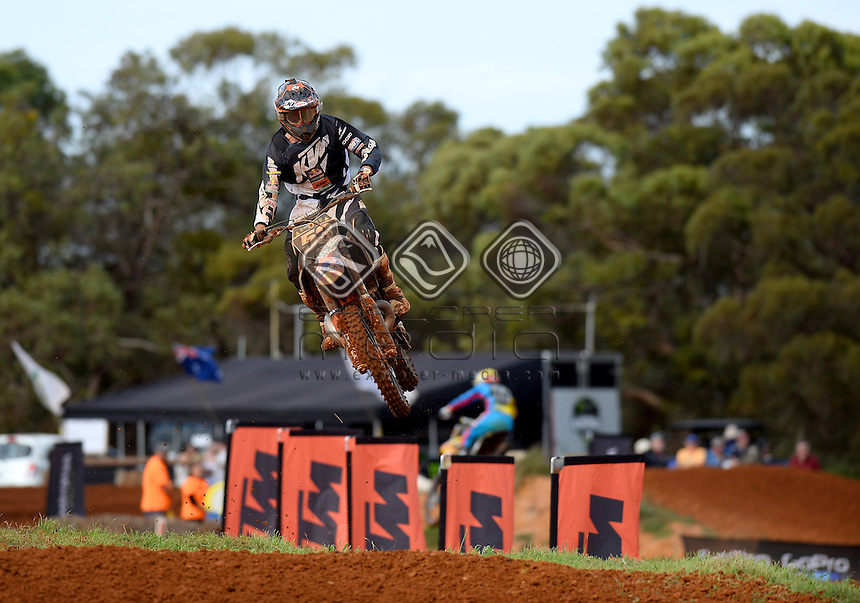 Hamish Harwood / KTM<br /> MXN Round 4 - Murray Bridge / MX2<br /> 2014 Monster Energy MX Nationals<br /> Australian Motocross Championship<br /> Murray Bridge SA 18 May 2014<br /> &copy; Sport the library / Jeff Crow