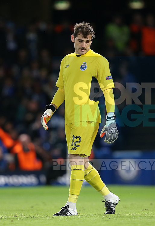 Porto's Iker Casillas looks on dejected after going 1-0 down<br /> <br /> UEFA Champions League - Chelsea v FC Porto - Stamford Bridge - England - 9th December 2015 - Picture David Klein/Sportimage