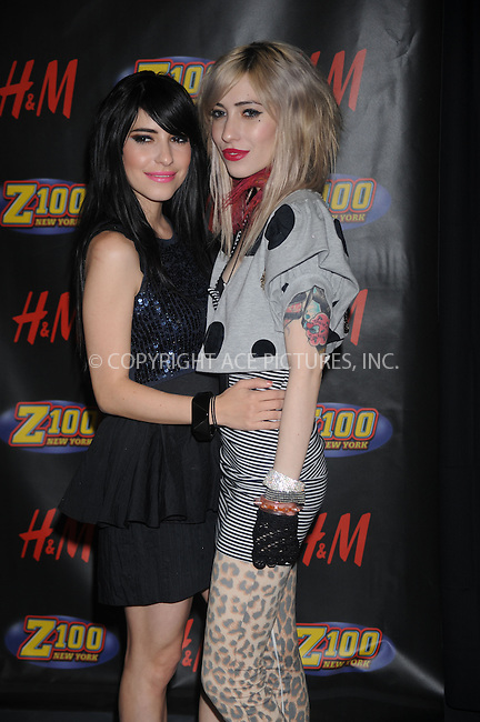 WWW.ACEPIXS.COM . . . . . ....December 12 2008, New York City....Lisa Origliasso and Jessica Origliasso of The Veronicas in the press room at Z100's Jingle Ball at Madison Square Garden on December 12, 2008 in New York City.....Please byline: KRISTIN CALLAHAN - ACEPIXS.COM.. . . . . . ..Ace Pictures, Inc:  ..tel: (212) 243 8787 or (646) 769 0430..e-mail: info@acepixs.com..web: http://www.acepixs.com