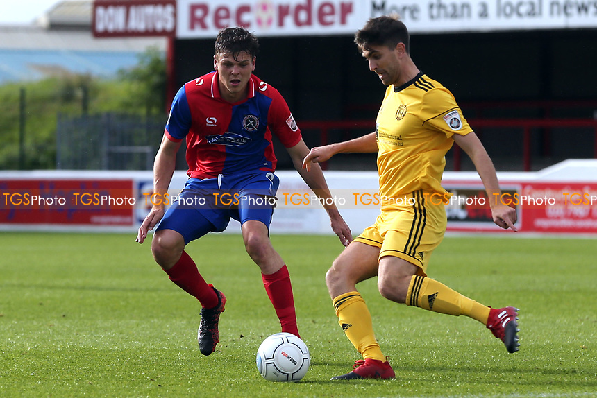 Matty Kosylo of FC Halifax and Matt Robinson of Dagenham during Dagenham & Redbridge vs FC Halifax Town, Vanarama National League Football at the Chigwell Construction Stadium on 16th September 2017