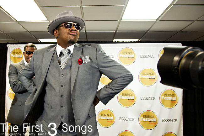 Bobby Brown of New Edition poses for the press at the 2013 Essence Festival at the Mercedes-Benz Superdome in New Orleans, Louisiana.